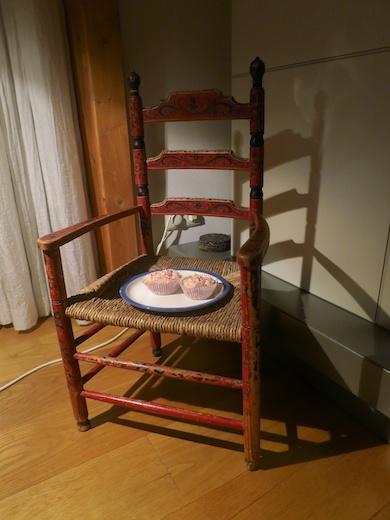 cupcakes op stoeltje