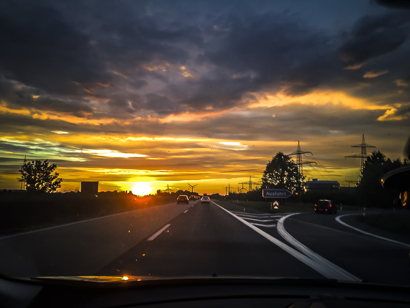 zonsondergang, Mönchengladbach