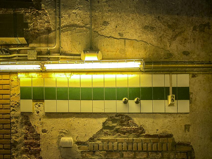 gevarieerde muur