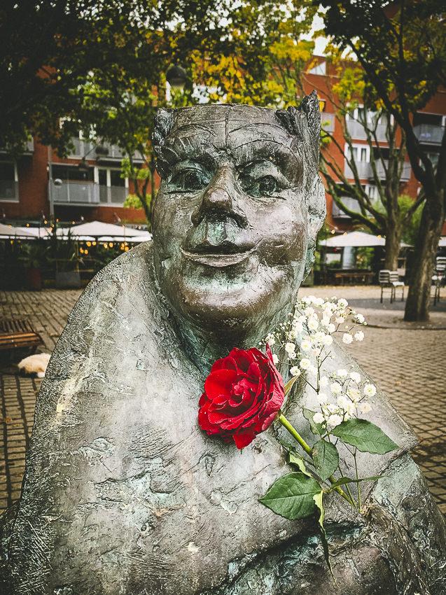 beeld met roos