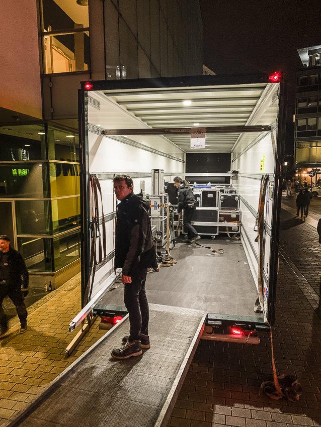 trailer inladen, Dortmund