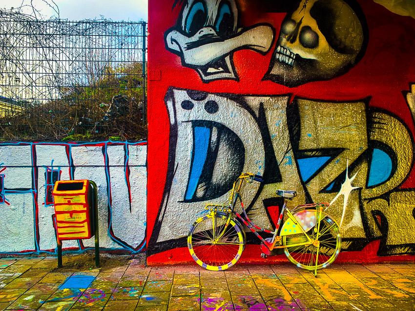graffiti en fiets