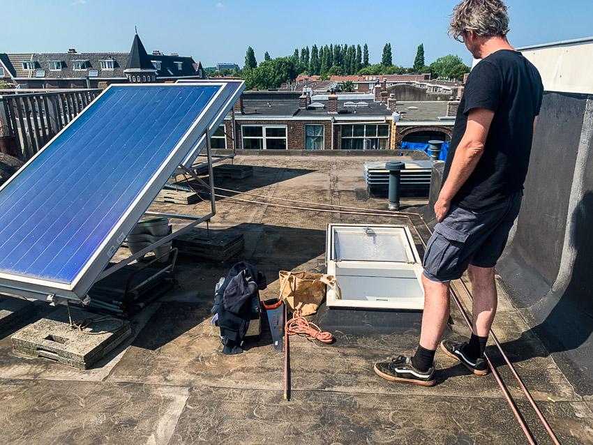 zonneboilerpaneel verplaatsen