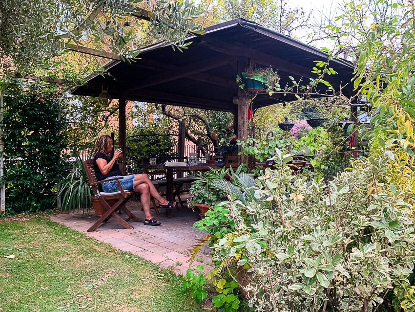 tuin van Fausto en Lucia