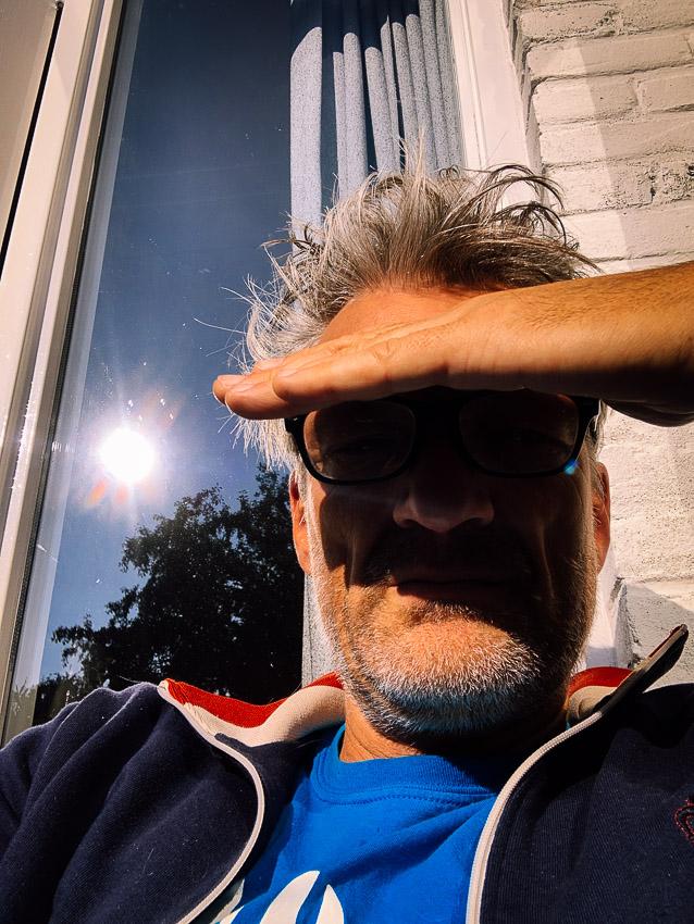 in het zonnetje